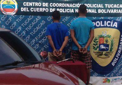 Aprehendidos dos roba carros por la PNB en Falcón