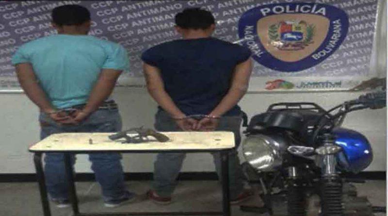 Capturados cuatro sujetos por porte ilícito en Caracas