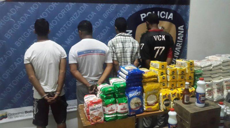 PNB captura cuatro sujetos por acaparamiento en Caracas