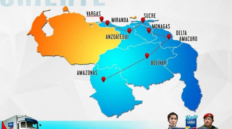 saime ruta sendero Bolívar y Chávez 2