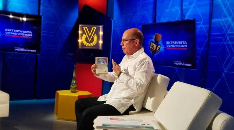 Juan Carlos Dugarte, director del Saime informa a los usuarios sobre la prórroga del pasaporte en Noticiero Venevisión (2)