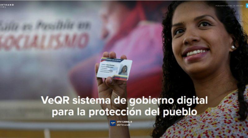 VeQR sistema de gobierno digital para la protección del pueblo