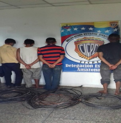 Capturados cuatro hombres por hurtar material estratégico de universidades en Amazonas