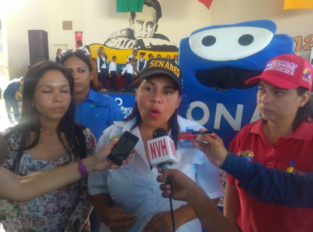 Delia Rondón directora del Servicio Nacional para el Desarme (Senades)