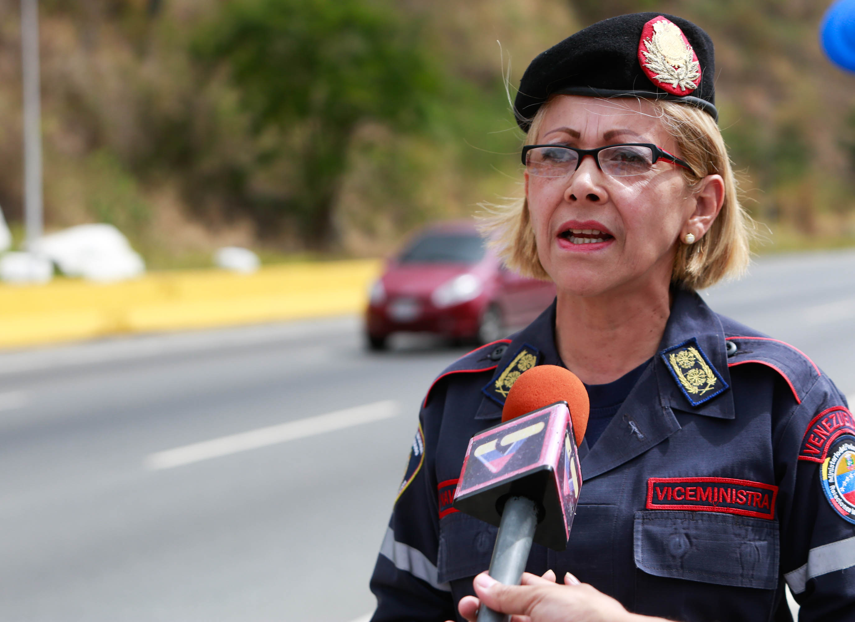 Primera Generala Rosaura Navas, viceministra para la Gestión de Riesgo y Protección Civil