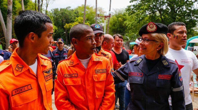 Viceministra Navas supervisó el trabajo de los servidores públicos para resguardar a los venezolanos (4)