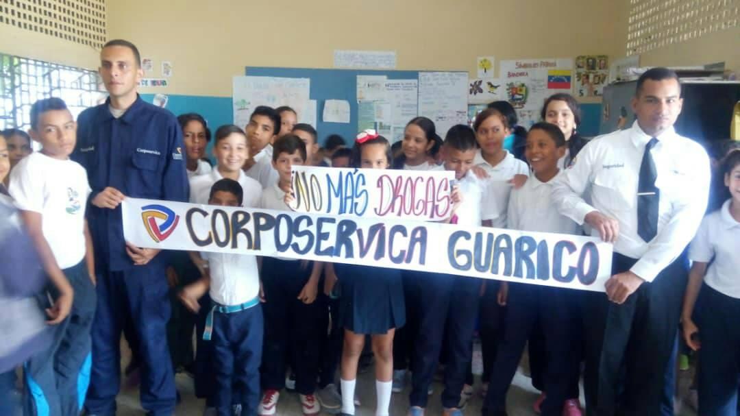 "Corposervica promueve campaña ""No más Drogas"" en Grupo Escolar José Félix Ribas de Guárico (1)"