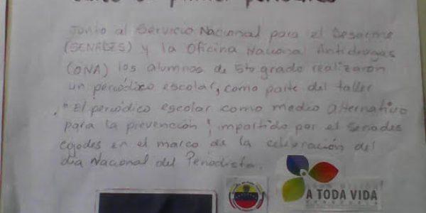Senades promueve Periódico Escolar como alternativa de Prevención en escuela de Cojedes (6)