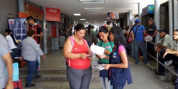 Senades abordó a más de 450 personas en el Terminal Terrestre de Barquisimeto (5)