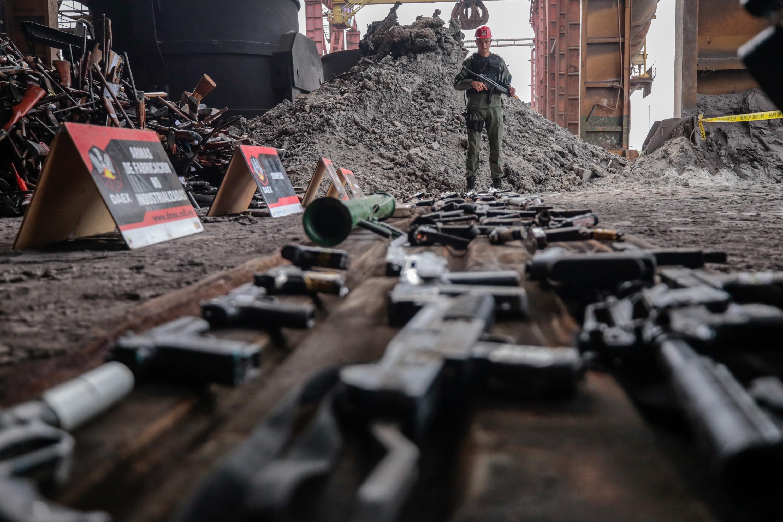 Destruidas más de 15 mil armas de fuego en el estado Zulia (1)