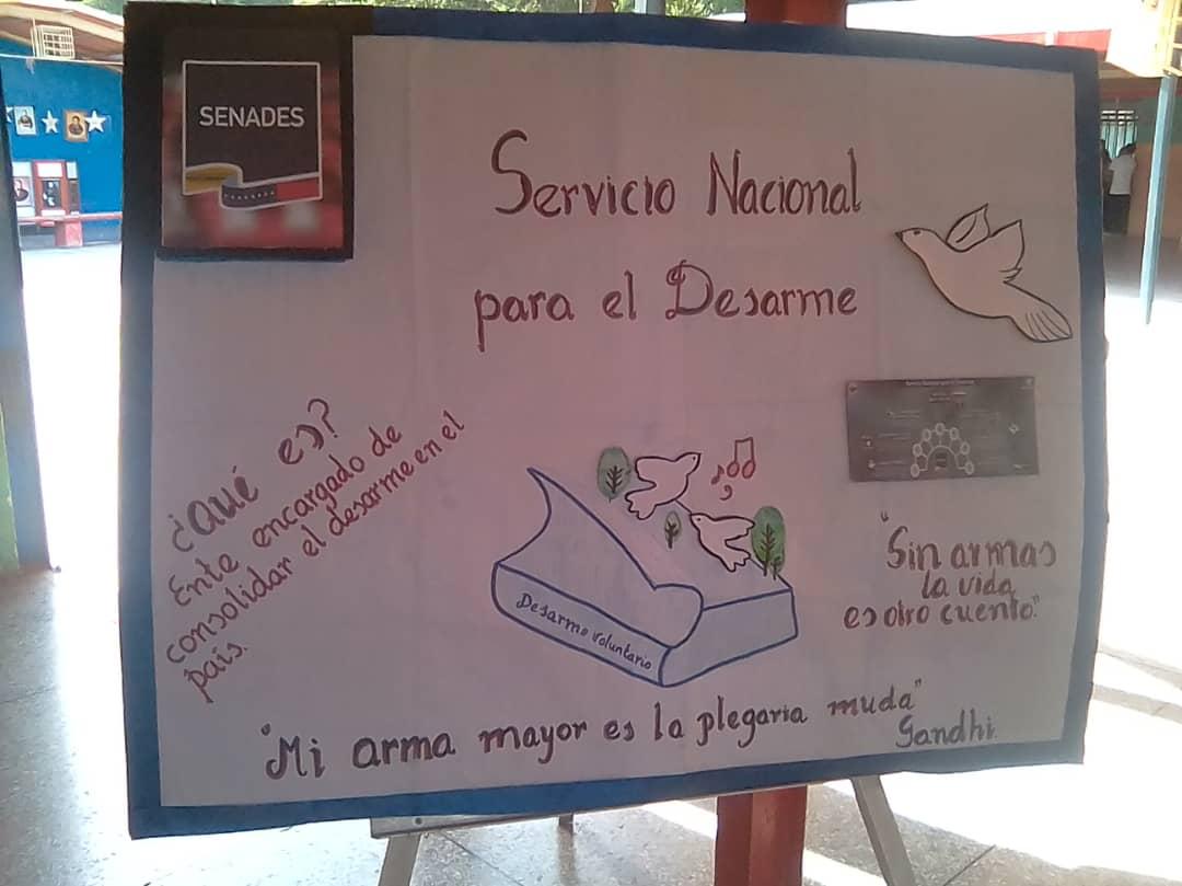 Estudiantes de Guanta promueven el Desarme Voluntario a través de cartelera informativa (10)