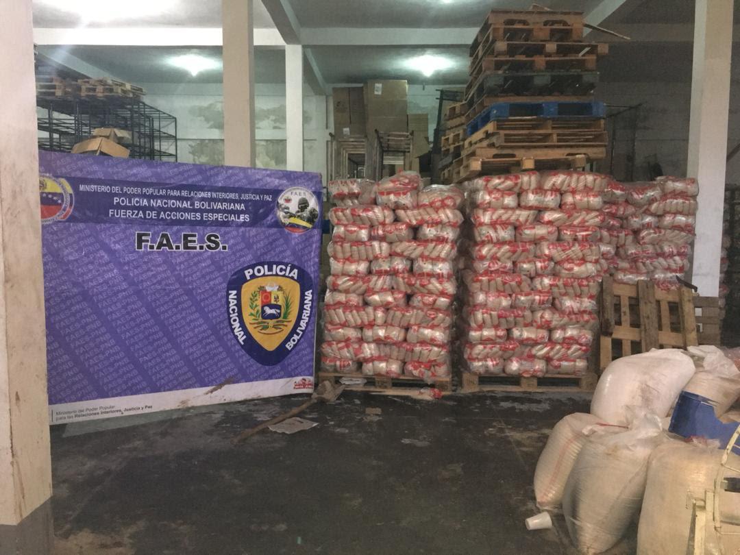 Faes recuperó más de 130 mil kilos de alimentos en Táchira