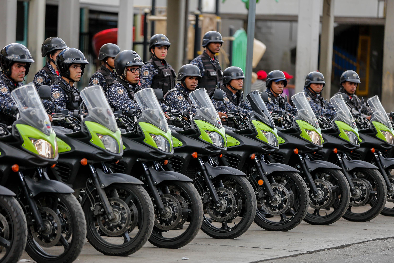 Funcionarios de la PNB desplegados en diversas parroquias de Caracas (15)