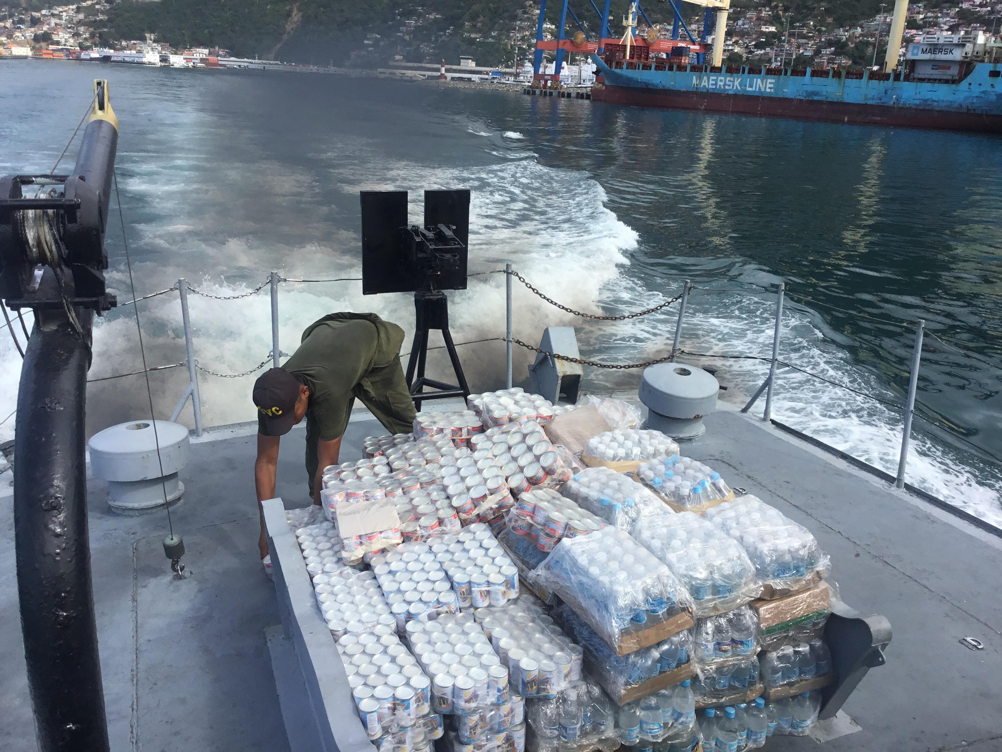 Gobierno nacional envió dos toneladas de insumos a Puerto Maya