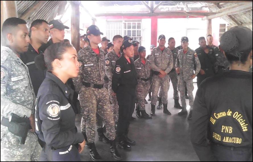 Incodir impartió conversatorio a funcionarios de la PNB en Delta Amacuro