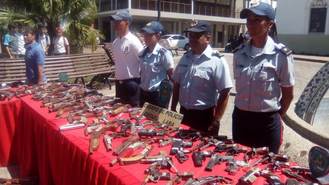 Senades inutilizó un total de 1090 armas de fuego en el estado Lara (10)