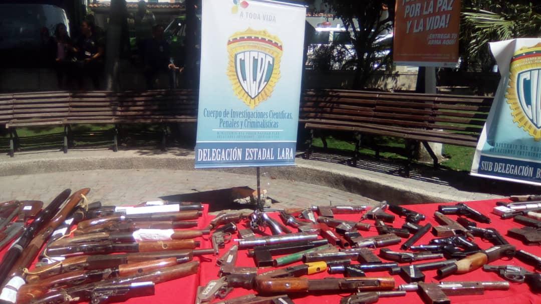 Senades inutilizó un total de 1090 armas de fuego en el estado Lara (5)