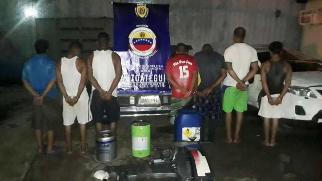 Desmantelada banda dedicada al contrabando de lubricantes en Anzoátegui (2)
