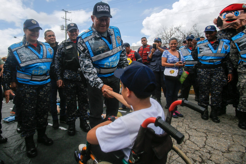 Despliegue del Servicio de la Policía Comunal en el eje Guarenas –Guatire (12)