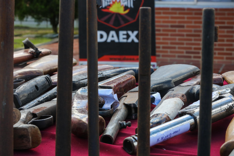 Senades inutilizó mil 311 armas de fuego en la sede del Daex de Fuerte Tiuna (1)
