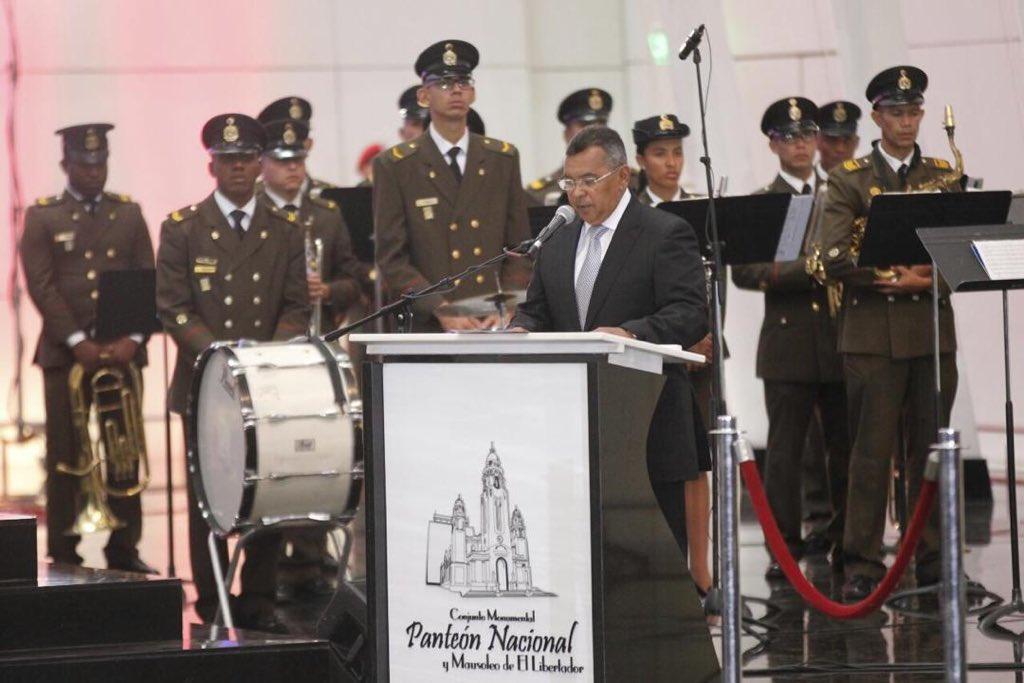 Ministro Reverol enaltece a El Libertador Simón Bolívar a sus 188 años de inmortalidad