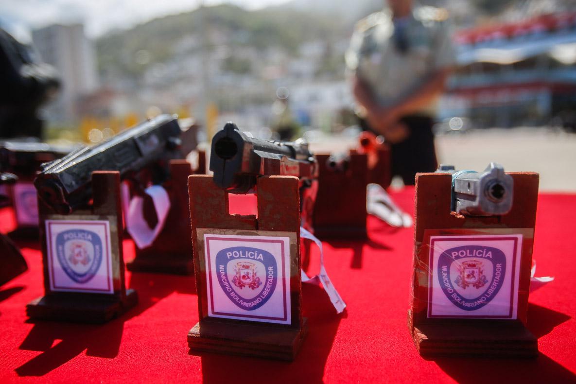 Senades realizó el primer acto de inutilización de armas de fuego del 2019 en Vargas (1)