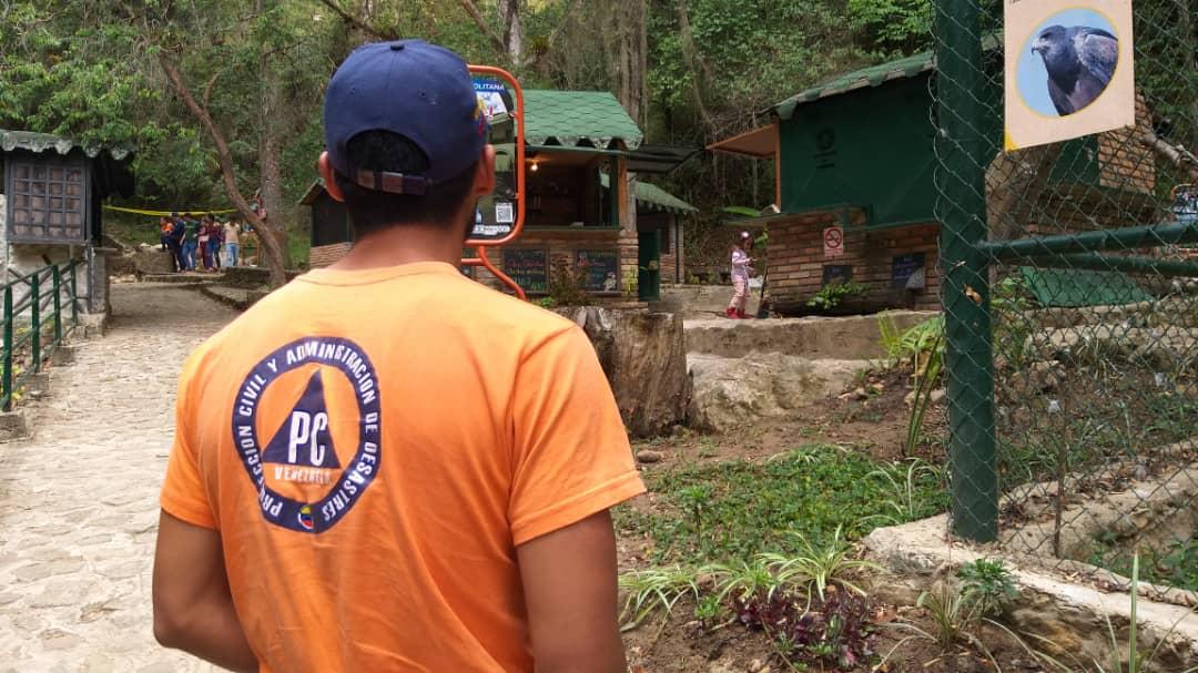 Frente Preventivo lleva diversión a visitantes del parque Chorros de Milla en Mérida