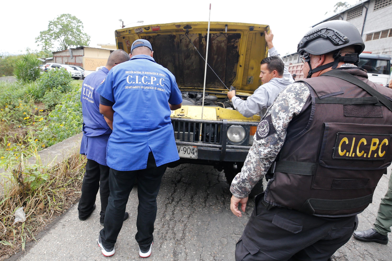 15 vehículos fueron recuperados en despliegue del Cicpc en la carretera Petare-Santa Lucia (14)