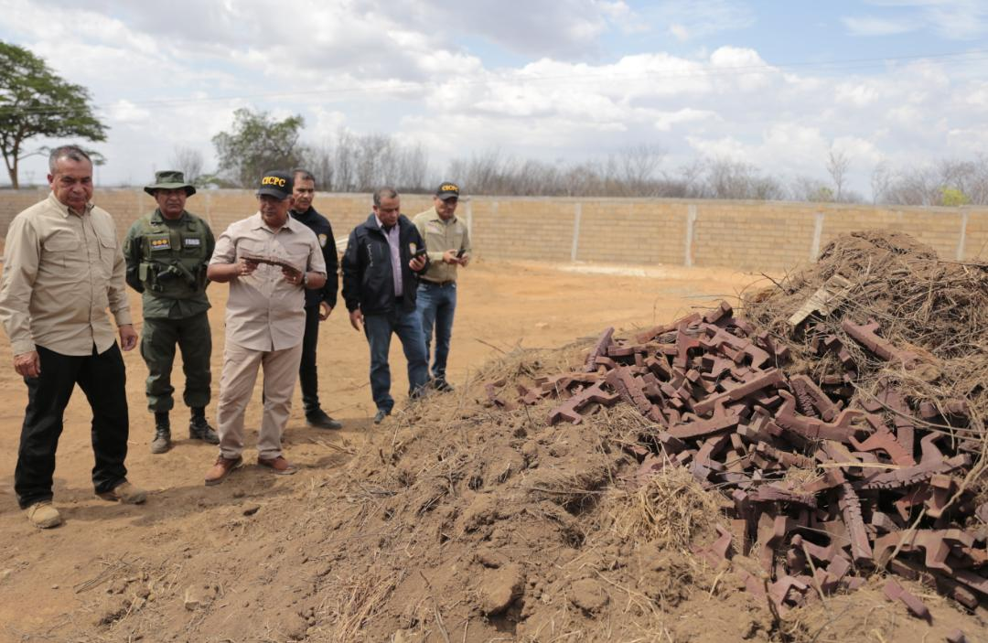 Incautadas más de mil toneladas de material estratégico sustraído del SEN en Bolívar (2)