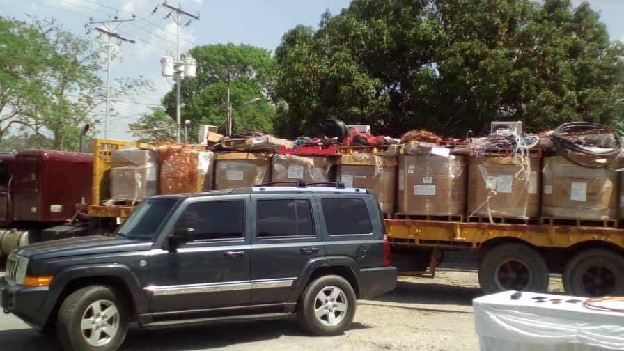 Incautadas 13 toneladas de material estratégico pertenecientes a Corpoelec y Cantv