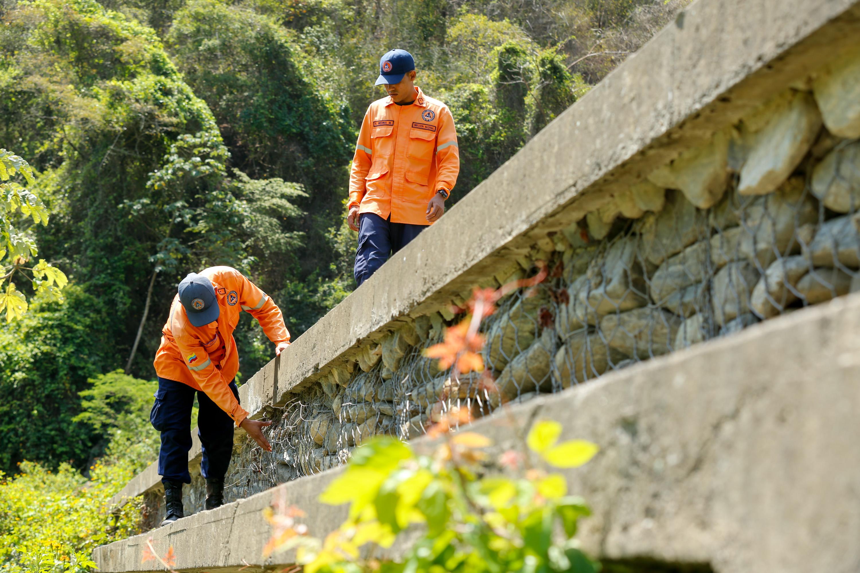 Protección Civil Nacional realizó inspección de obras de mitigación de riesgo en Vargas