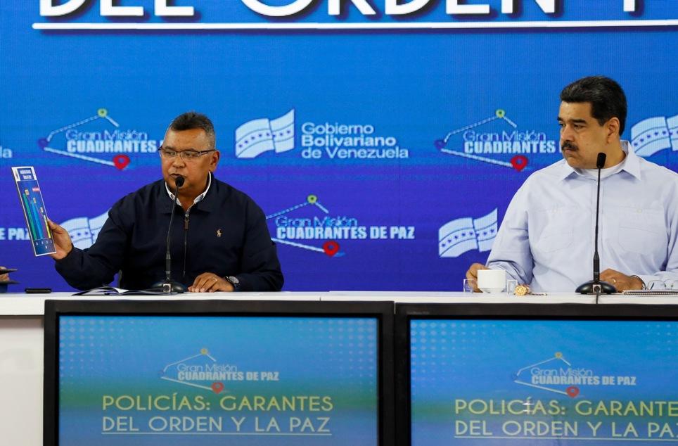 Ministro Reverol: Políticas de seguridad ciudadana disminuyen tasa de homicidios en el país