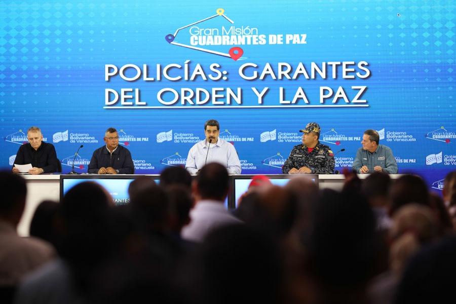 Nicolás Maduro: La PNB trabaja de la mano con el pueblo en los Cuadrantes de Paz