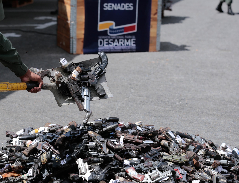Mpprijp inutilizó 12 mil 921 armas de fuego en Caracas (1)