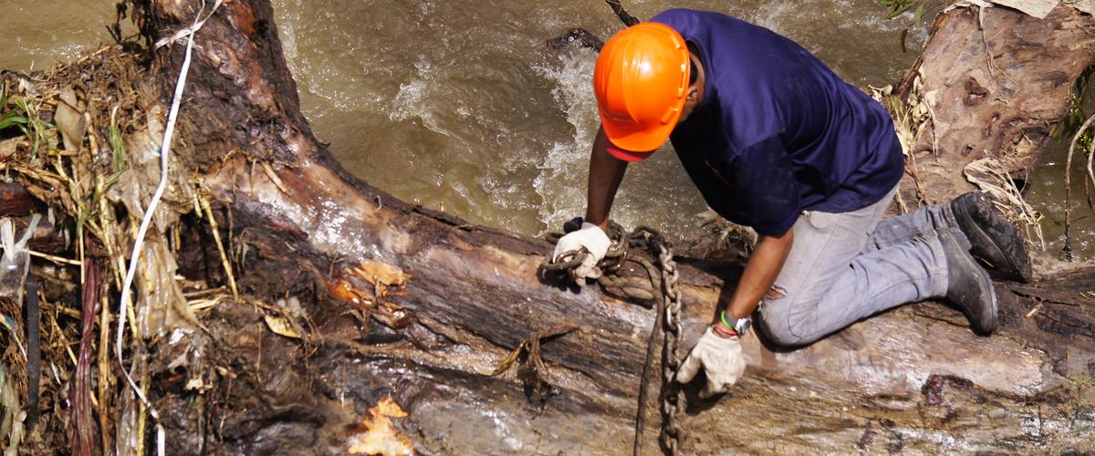 Realizadas labores de mantenimiento en 18 km  del río Guaire