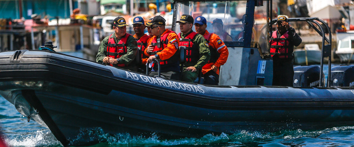 Sistema Nacional de Gestión de Riesgo realizó recorrido marítimo en La Guaira