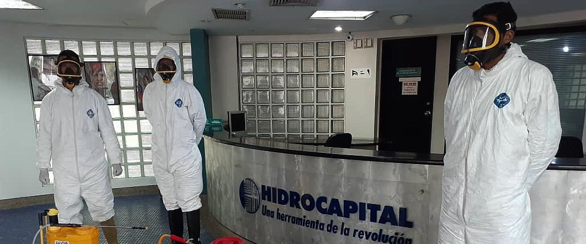 Funcionarios del SNGR desinfectaron instalaciones de Hidrocapital