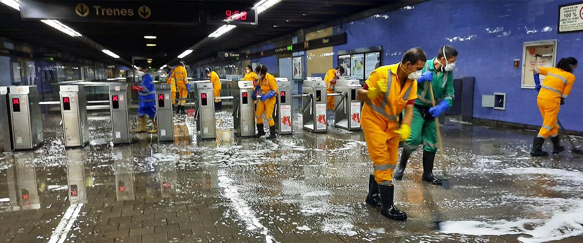 Plan de Desinfección en el Metro de Caracas, Ferrocarril y Sistema Metrocable