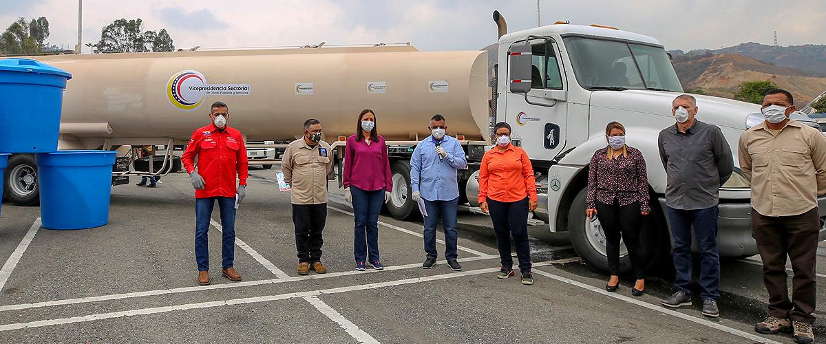 Gobierno nacional desplegó camiones cisternas para garantizar el servicio de agua en la Región Capital