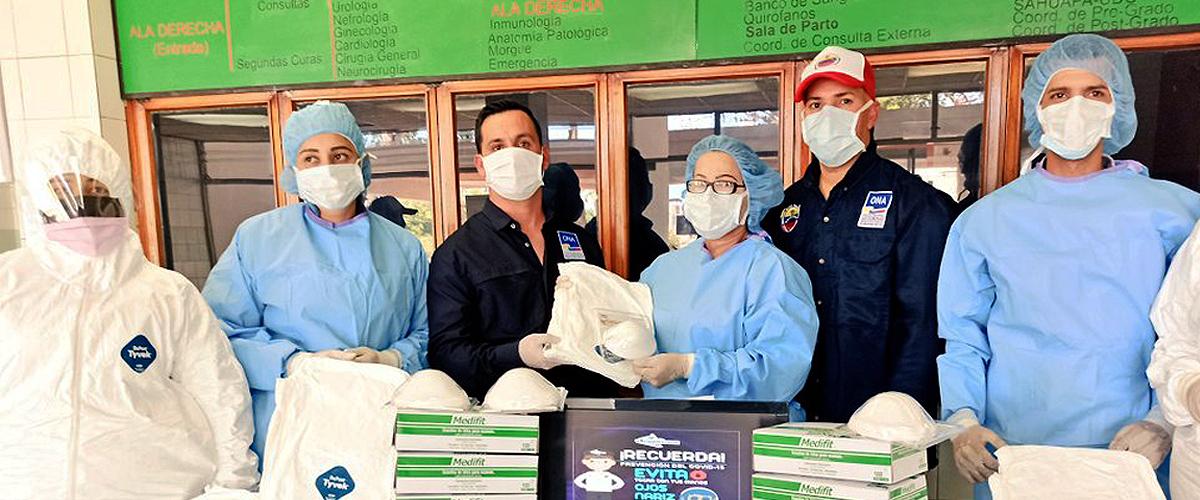 SNGR entregó equipos de bioseguridad en el municipio Sucre