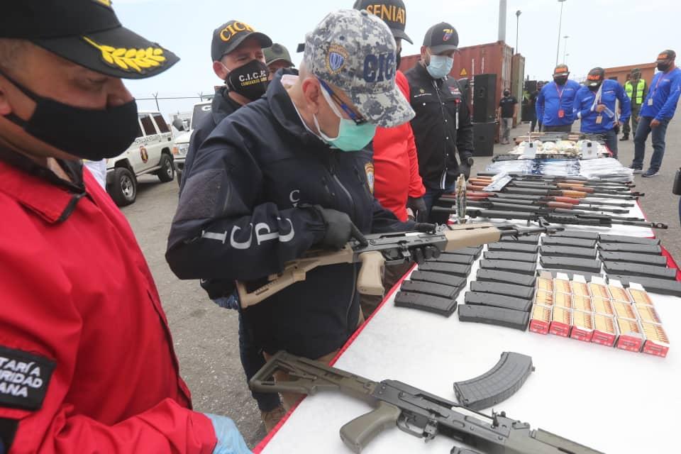 Incautadas armas de guerra y municiones en Zulia y Carabobo