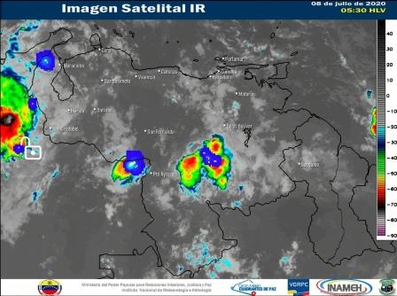 Nubosidad con precipitaciones de intensidad variable se esperan en gran parte del país