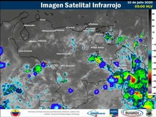 Nubosidad y lluvias se esperan en la mayor parte del territorio venezolano