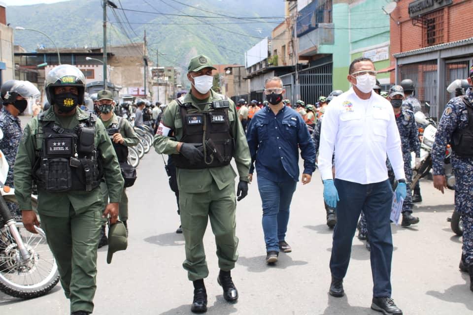 Organismos de seguridad supervisan medidas de bioseguridad y barreras de contención en el Distrito Capital