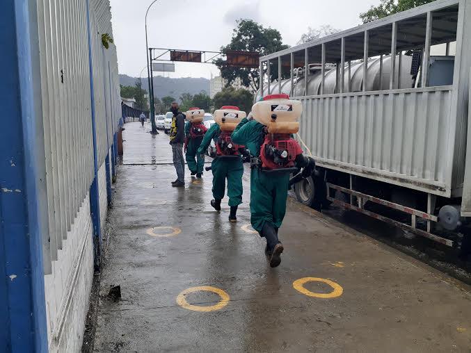 Realizan la décima octava jornada de desinfección de la Gran Misión Venezuela Bella