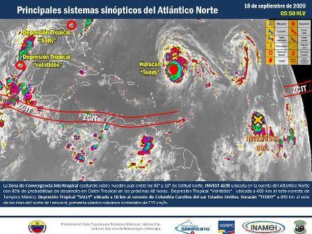 Actividad en Zona de Convergencia Intertropical genera abundante nubosidad y lluvias en el país