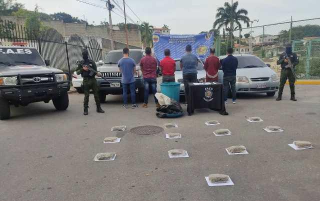 Detenidas seis personas por tráfico de droga en el estado Lara