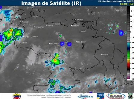 Gran parte del territorio venezolano se mantendrá con nubosidad parcial y algunas lluvias