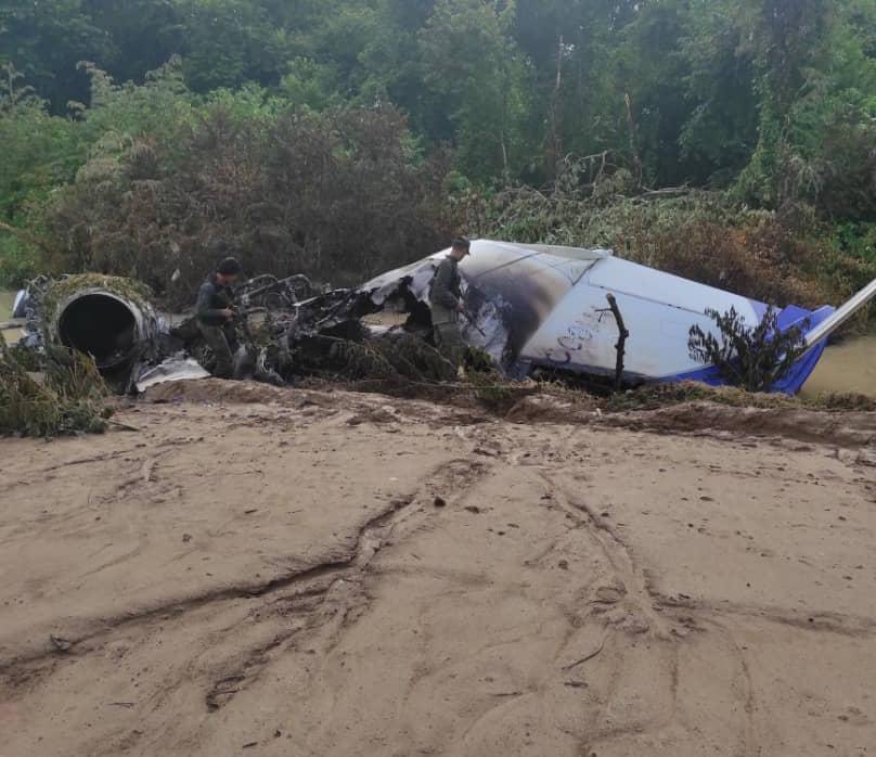 Inutilizada aeronave del narcotráfico con siglas norteamericanas en el Zulia