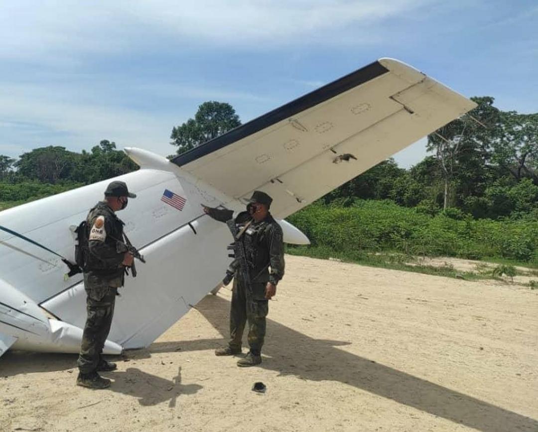 Inutilizada aeronave norteamericana que ingresó de forma clandestina al espacio aéreo venezolano